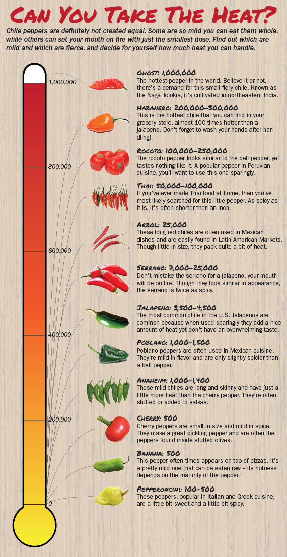 Chile Pepper Heat Scale A Guide To The Iest Capsis