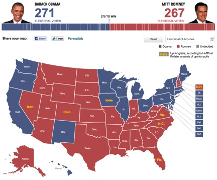 Pollster Map Shows Possible Path For Romney Victory Huffpost