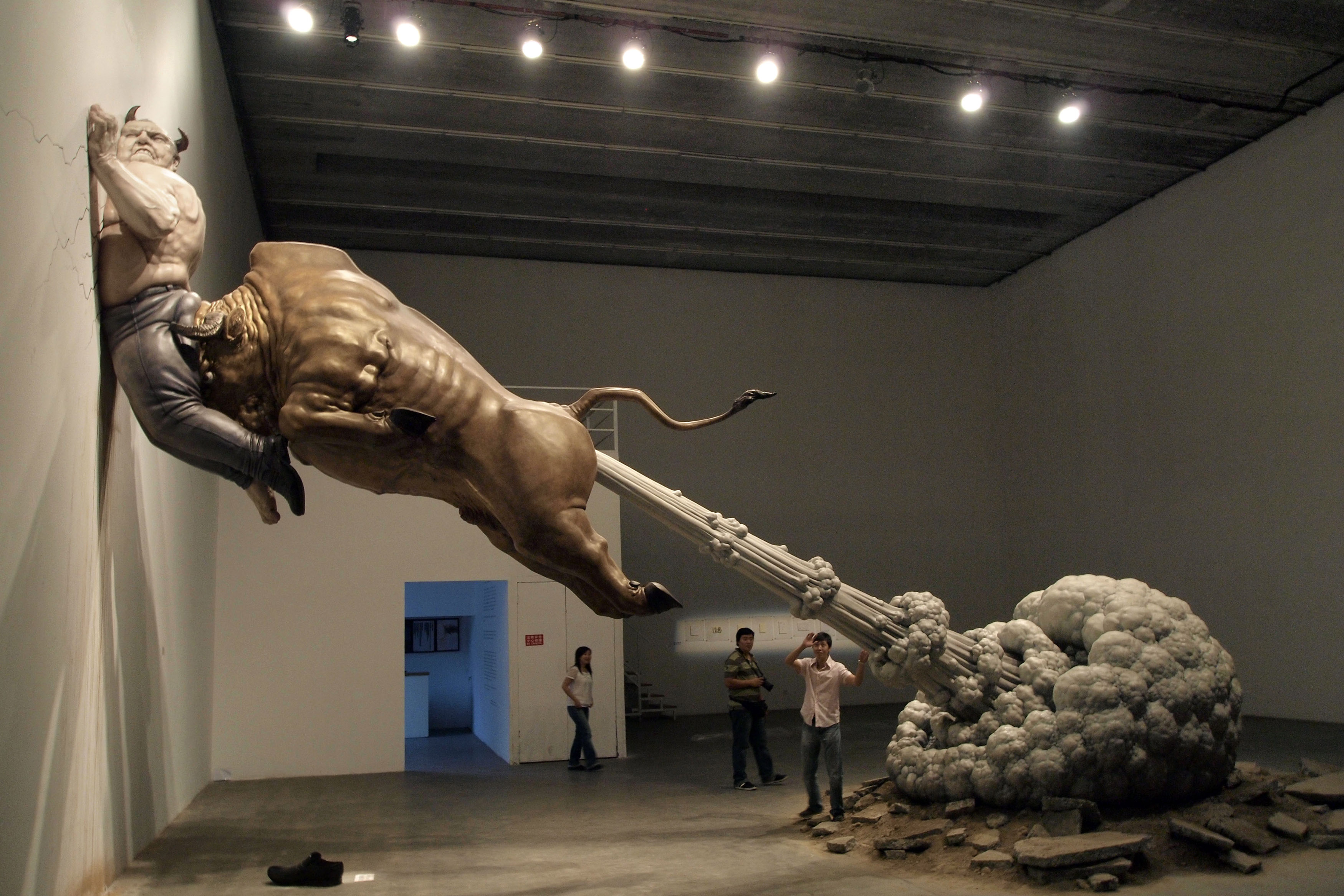 Chen Wenling's Bernie Madoff Art: Wall Street Villain Pinned To Wall ...