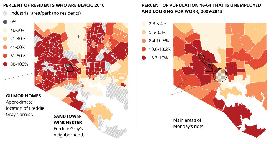 6 Maps That Show How Deeply Segregated Baltimore Is HuffPost