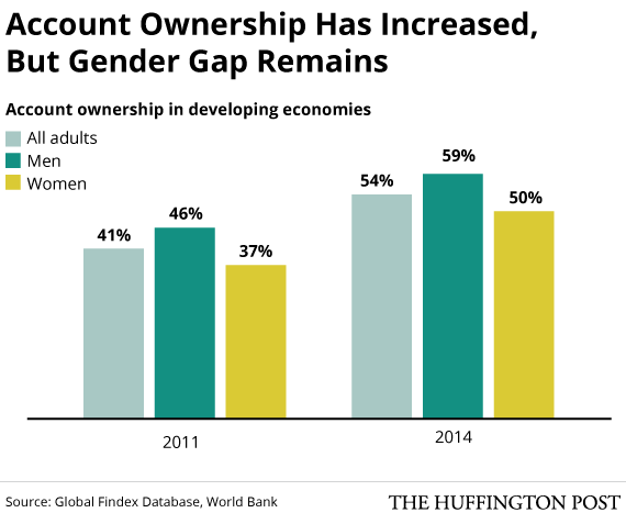 Image result for account ownership has increased, but gender gap remains