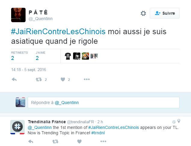 Au lendemain de la manifestation contre le racisme anti-asiatique, le hashtag #JaiRienContreLesChinois