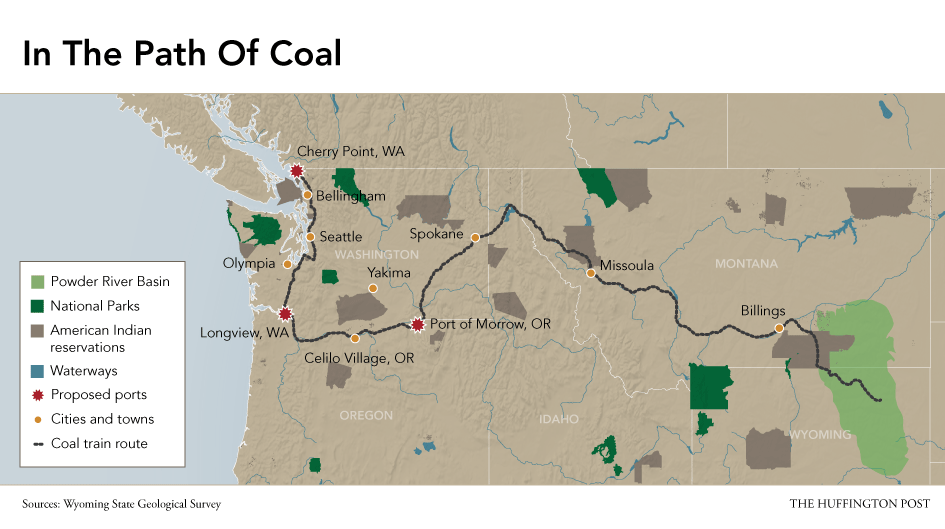 CoalHungry World Brings Tough Choices For Native Americans HuffPost - Map of coal mines in the us