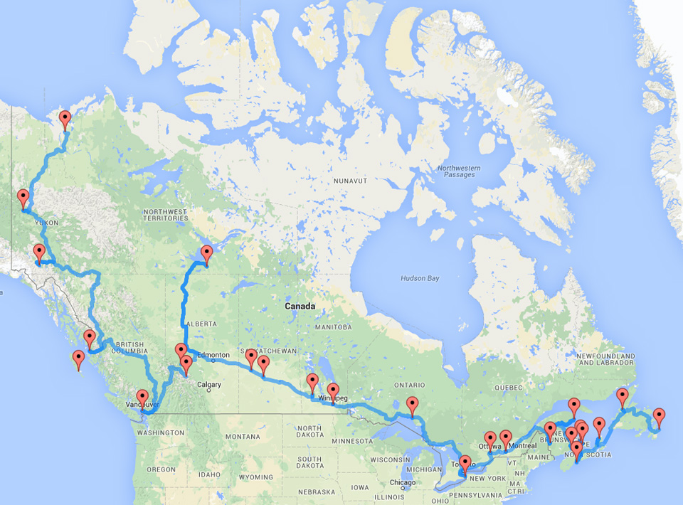 The Ultimate Canadian Road Trip As Determined By An Algorithm – Europe Travel Map Planner
