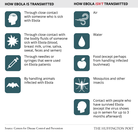 Ebola Tranmission Guide Tru huffingtonpost.com