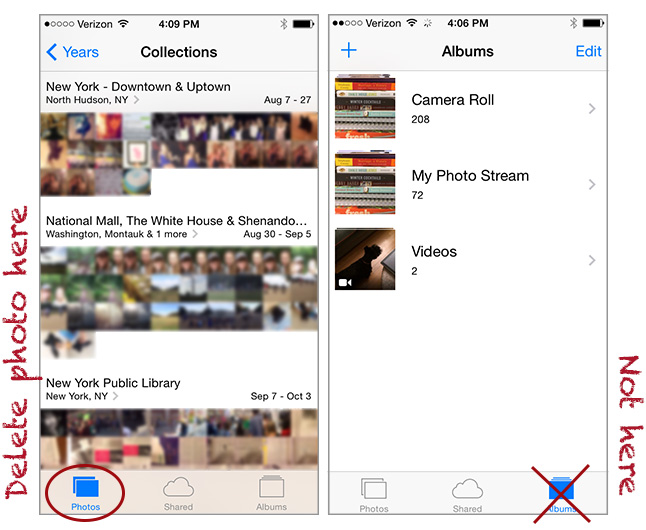 how to remove pictures from photostream