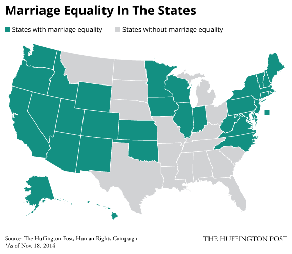 Same sex marriage laws state map