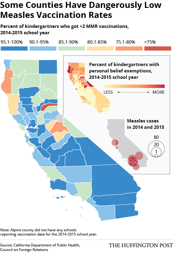 vaccine rates by county