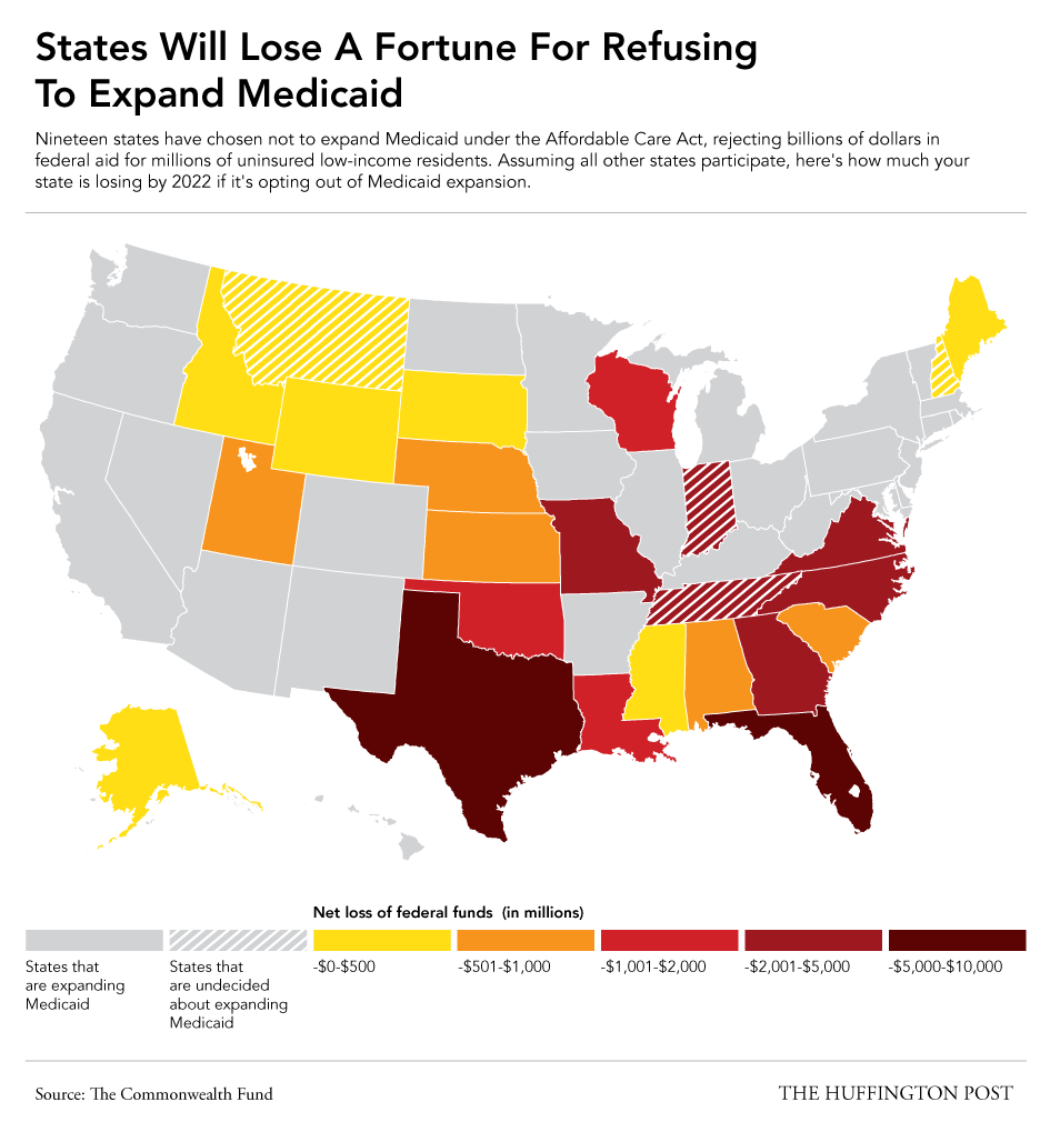 Here S How Much Your State Is Losing If It Didn T Expand Medicaid