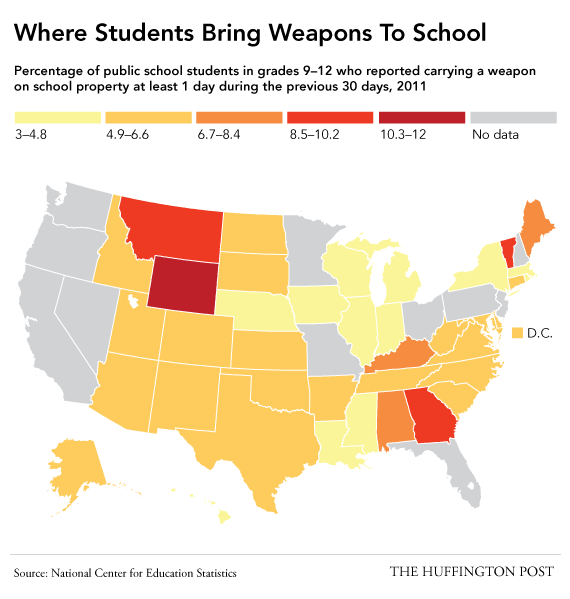 School Shooting United States 2019: These Are The States Where Students Most Often Bring