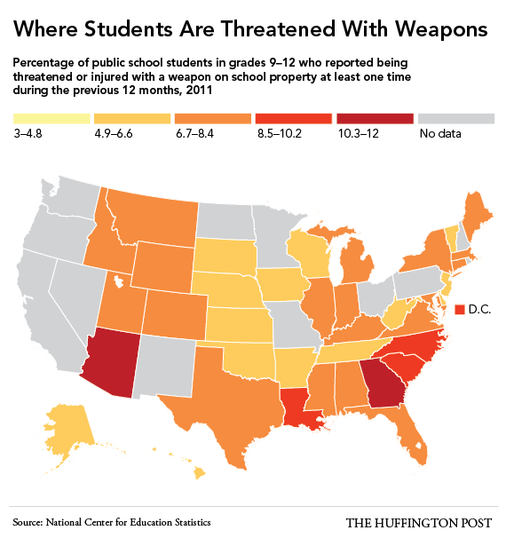 School Shootings 2014: These Are The States Where Students Most Often Bring
