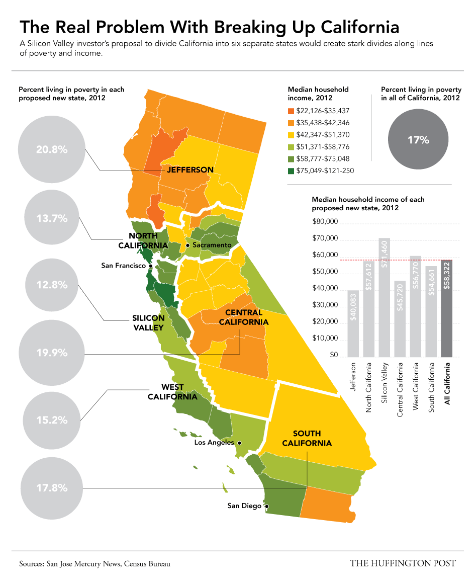 This Map Shows Why The Plan To Split Up California Would Be