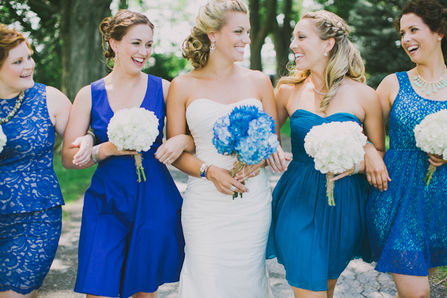 Blue Wedding Dress Colors : Bridal parties who totally nailed the mismatched