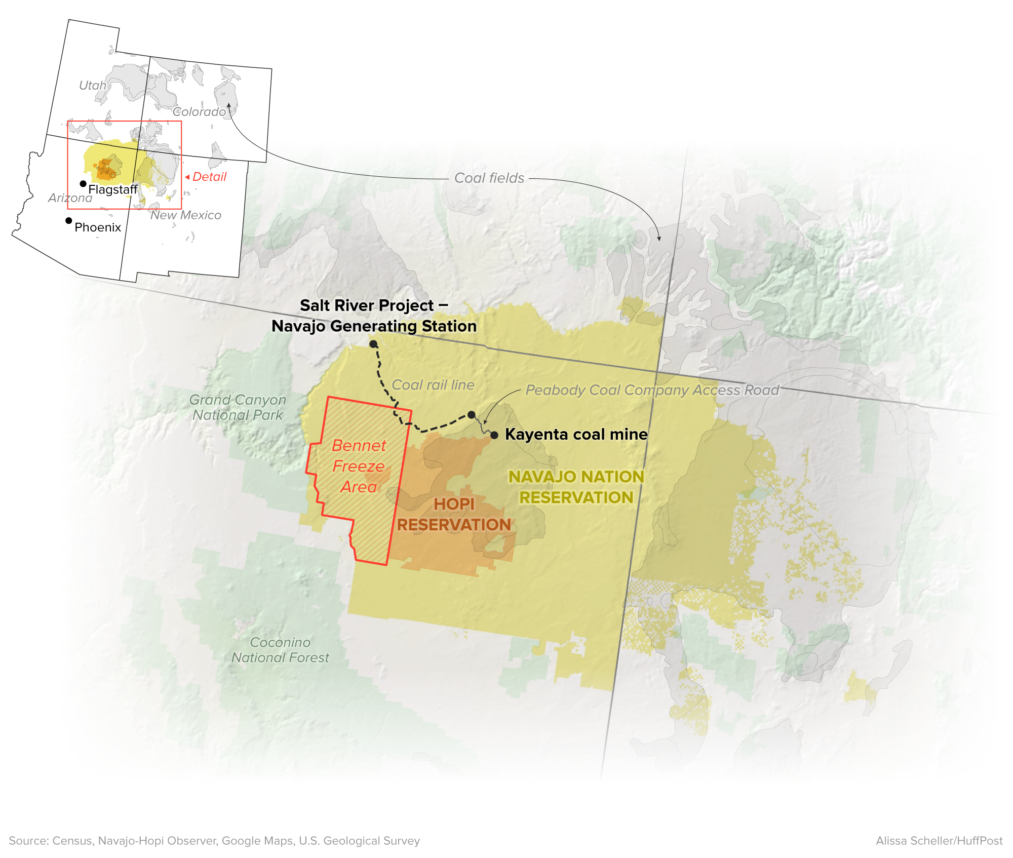 Navajo Reservation Arizona Map.As Coal Plant Shutdown Looms Arizona S Navajos And Hopis Look For