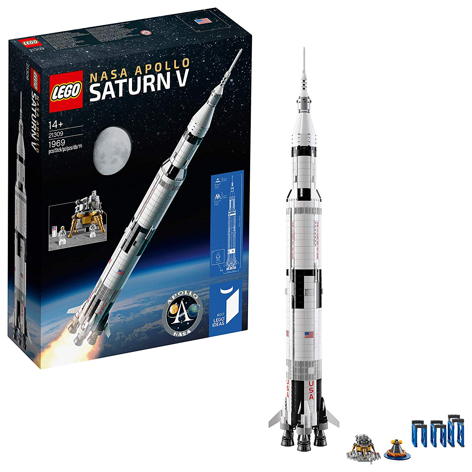 Lego Ideas - La fusée NASA Apollo Saturn V
