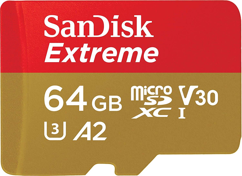 Carte microSDXC Sandisk Extreme 64 Go