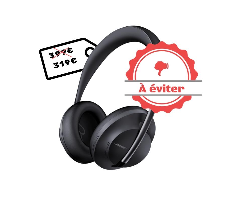 Bose Headphones 700 à 319 sur Rakuten