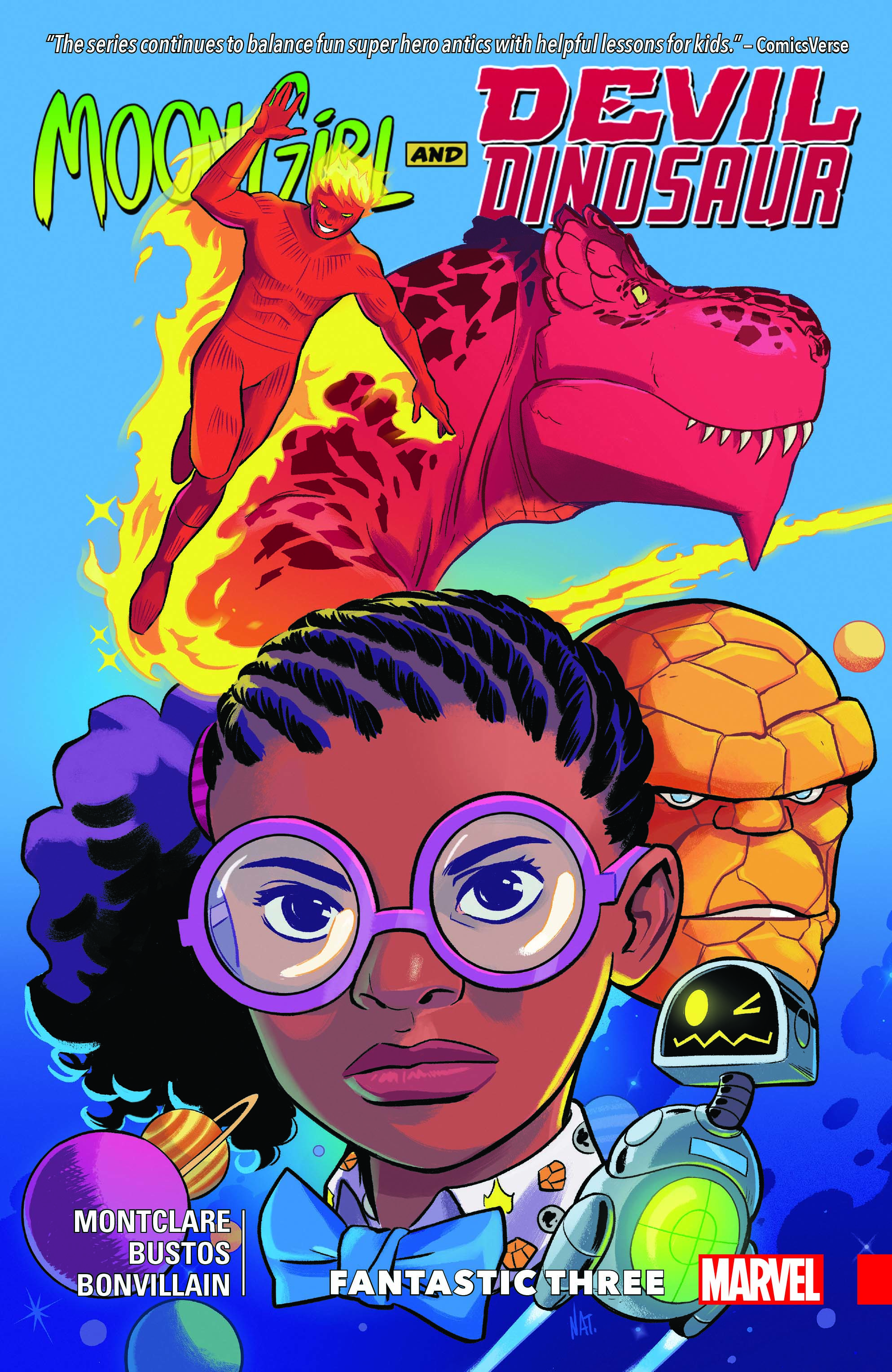 The cover of an issue of Moon Girl and Devil Dinosaur