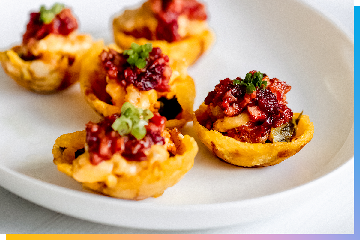 Thanksgiving Leftovers Stuffed Plantain Cups