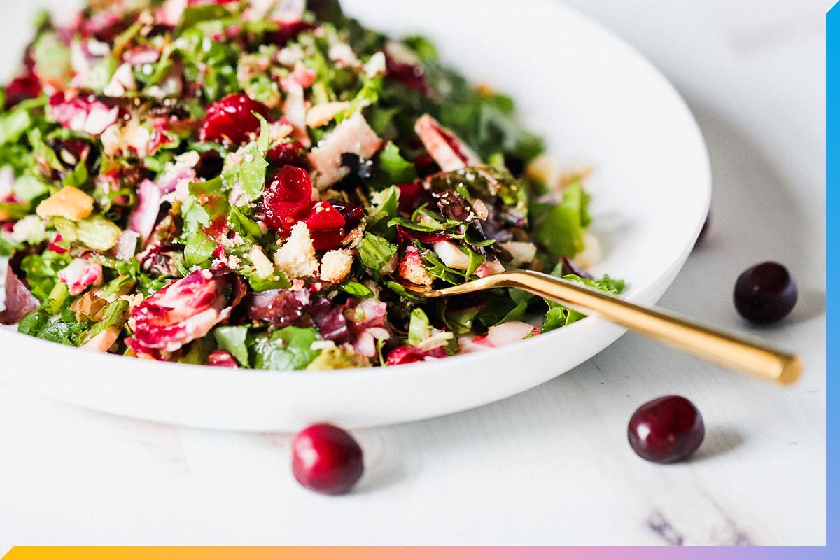 Leftover Turkey Cranberry Salad