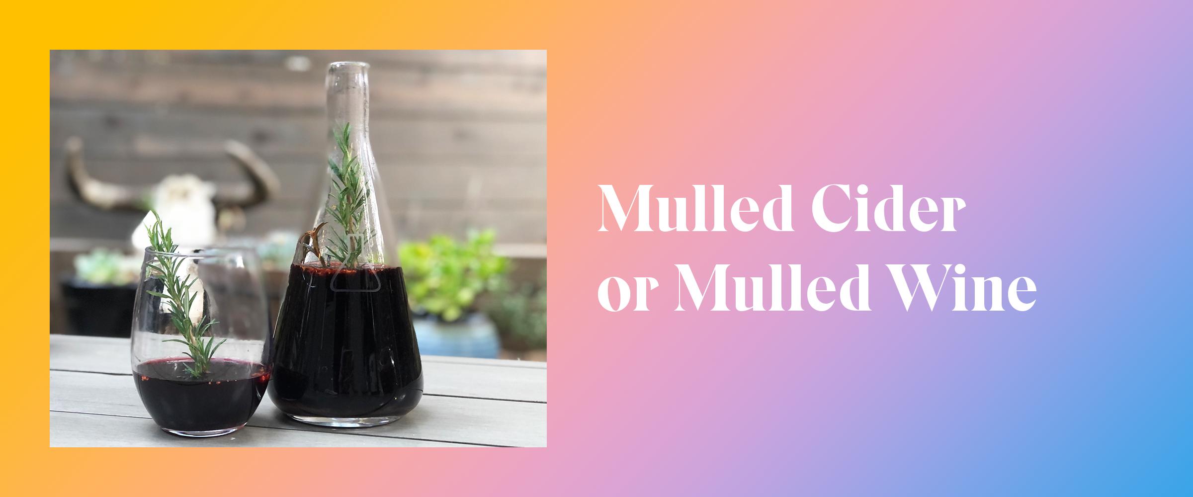 Mulled Cider or Mulled Wine