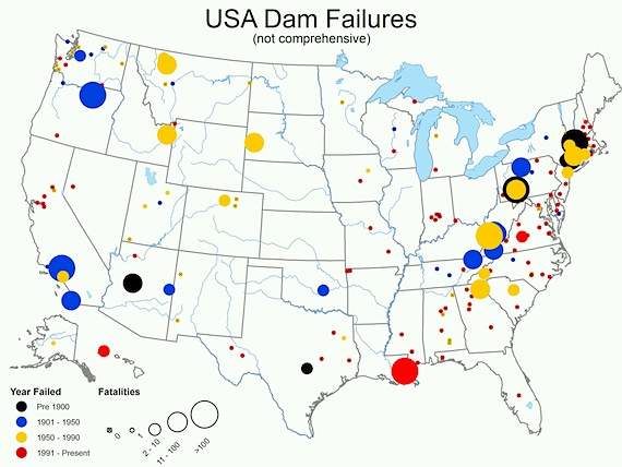 dam failures map