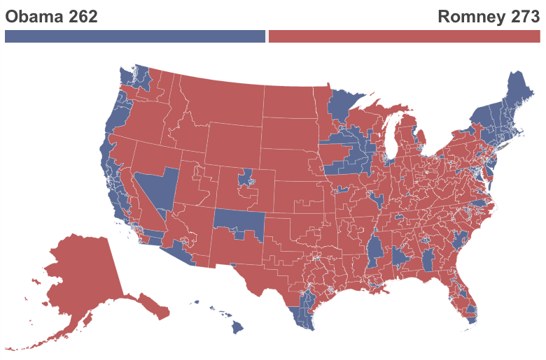 What The Election Would Look Like Under The Republicans Vote - Us congress election map