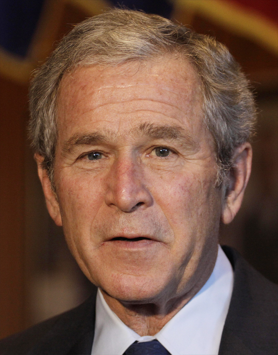 Weird news: These Photos Show The Physical Toll Of Being ... George Bush