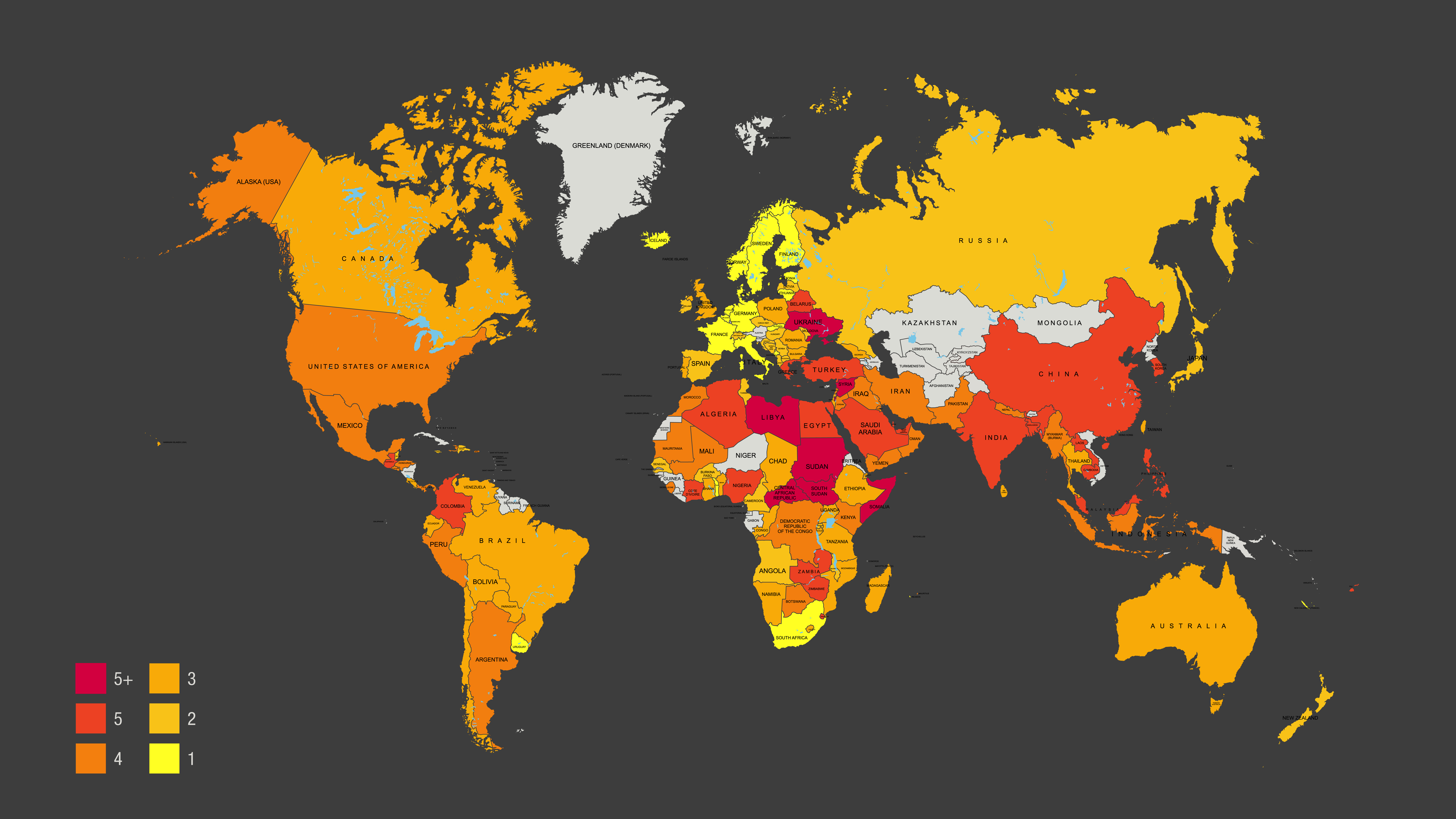 global workers rights map