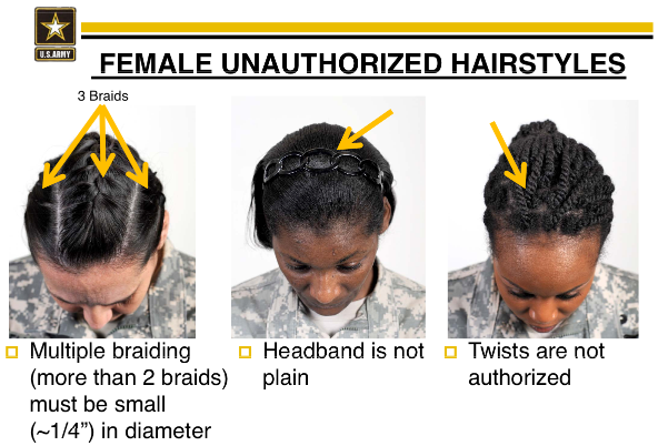 Black Female Soldiers Criticize Army's New Hairstyle Rules