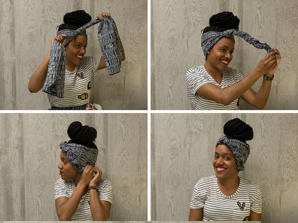 Brilliant How To Tie A Headwrap In Four Fabulous Ways The Huffington Post Short Hairstyles Gunalazisus