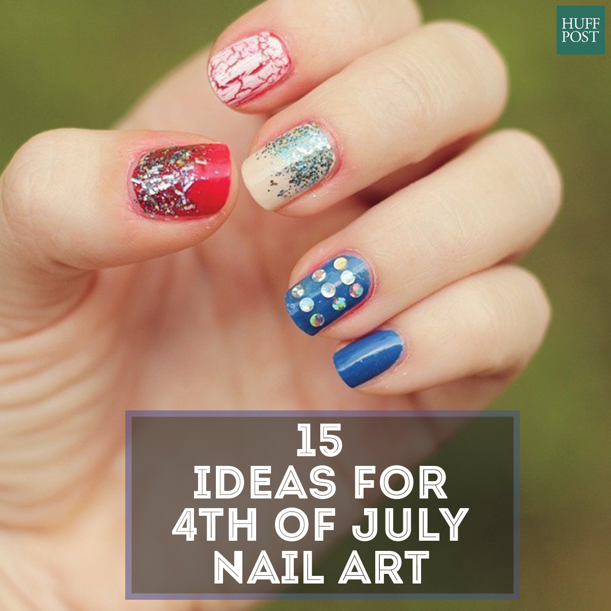4th nail art card - American Flag Nail Art For Your Fourth Of July Celebration
