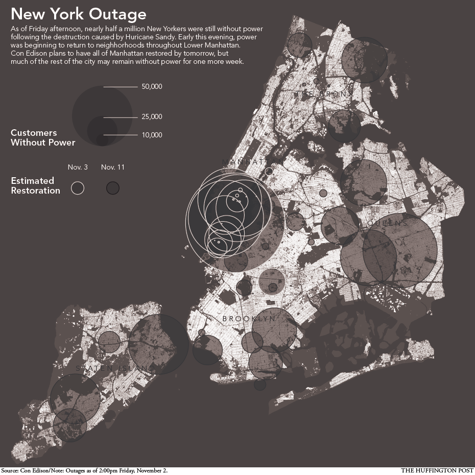 Power Outage Map New York City Thousands Still Have No Power After