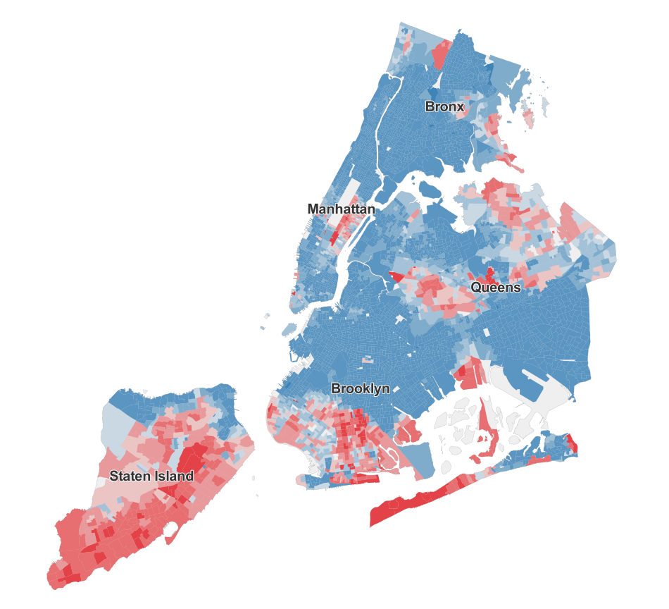 See Who Didn39t Vote For De Blasio MAPS  HuffPost