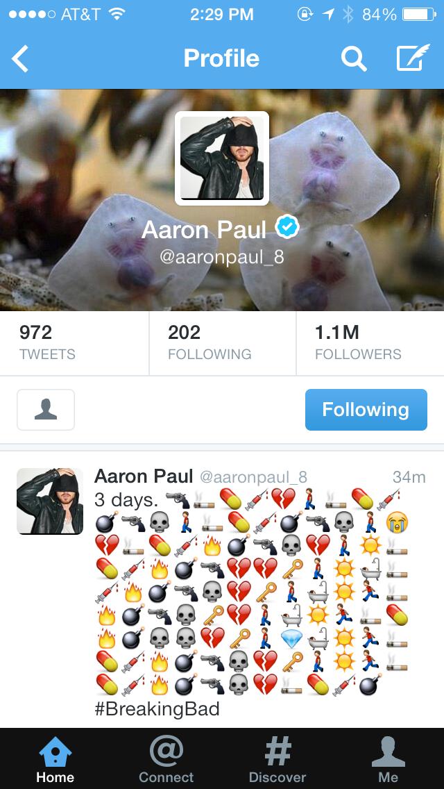 -aaron paul tweet