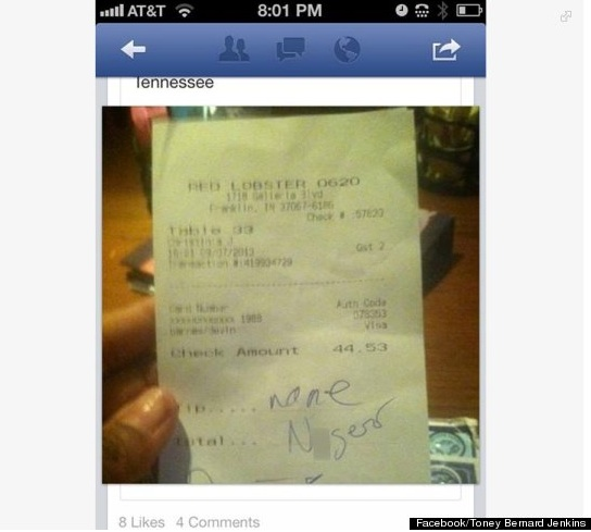 red lobster receipt