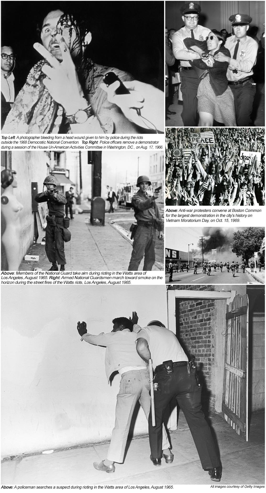 ... The Stonewall Riots In 1969 And A Number Of Anti Vietnam War  Demonstrations That Featured Violent Confrontations Between Police And  Civilians.
