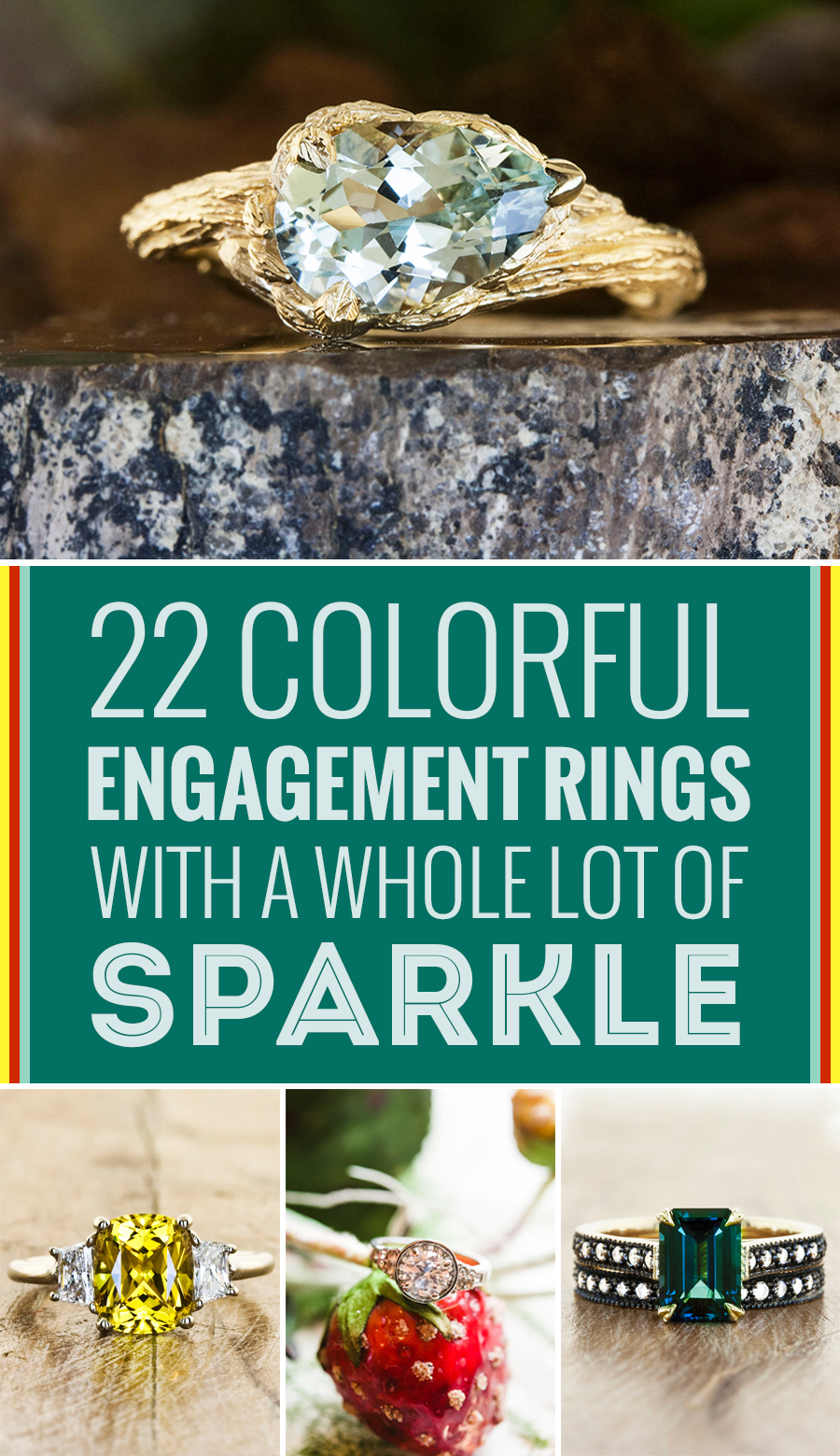 good coloured more com weddingforward rings weddings see pin engagement insanely colorful colored