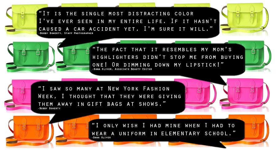 Cambridge Satchel Company's Neon Bags: Talk Off   HuffPost Life