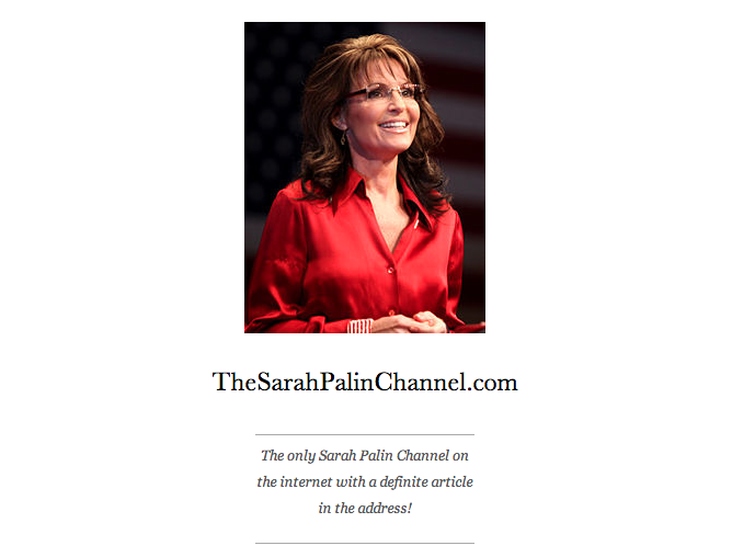 The Sarah Palin Channel Cover