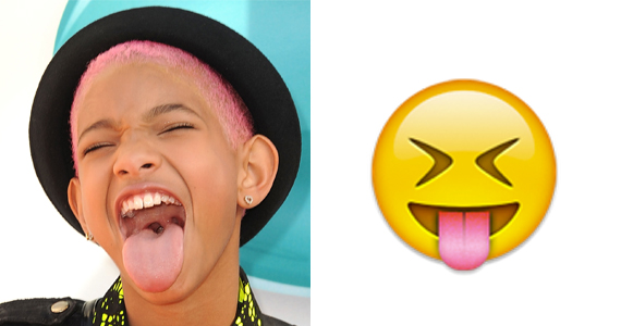 How to make emoji with tongue sticking out